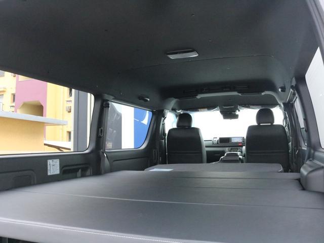 スーパーGL ダークプライムIIワイド ロングボディ FLEXカスタムPKG 両側パワースライドドア フロントリップスポイラー Delf03 17インチホイール ホワイトレタータイヤ ローダウン ベッドキットフラットタイプ車中泊対応 SDフルセグ ETC(68枚目)