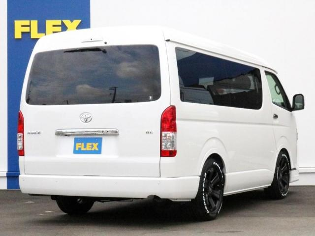 GL ロング FLEXシートアレンジVer1.5デニムカスタム フルフラットベッドキット車中泊対応 テーブルモード 3列目シート跳ね上げ収納可能 床張りフローリング施工 デニム&ウッド調 全席デニムシートカバー(8枚目)