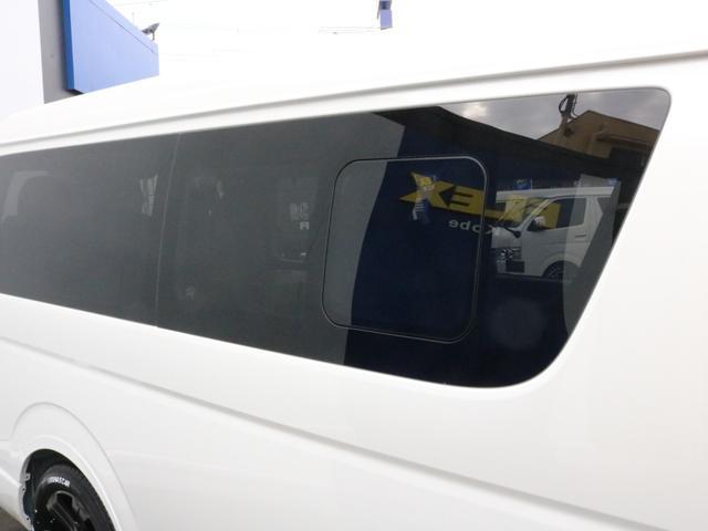 GL ロング FLEXシートアレンジVer1.5デニムカスタム フルフラットベッドキット車中泊対応 テーブルモード 3列目シート跳ね上げ収納可能 床張りフローリング施工 デニム&ウッド調 全席デニムシートカバー(25枚目)