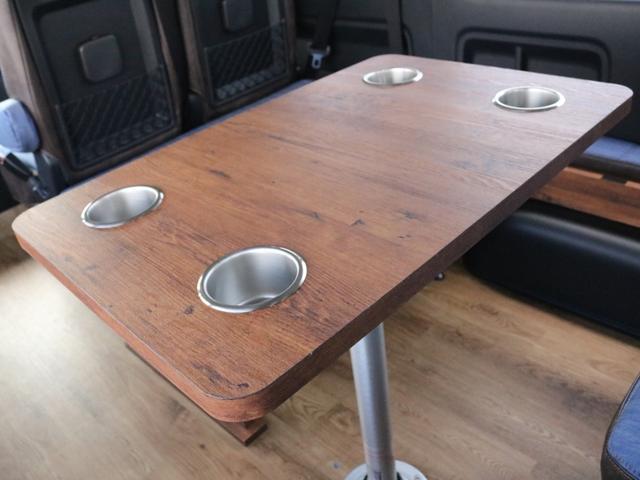 GL ロング FLEXシートアレンジVer1.5デニムカスタム フルフラットベッドキット車中泊対応 テーブルモード 3列目シート跳ね上げ収納可能 床張りフローリング施工 デニム&ウッド調 全席デニムシートカバー(43枚目)
