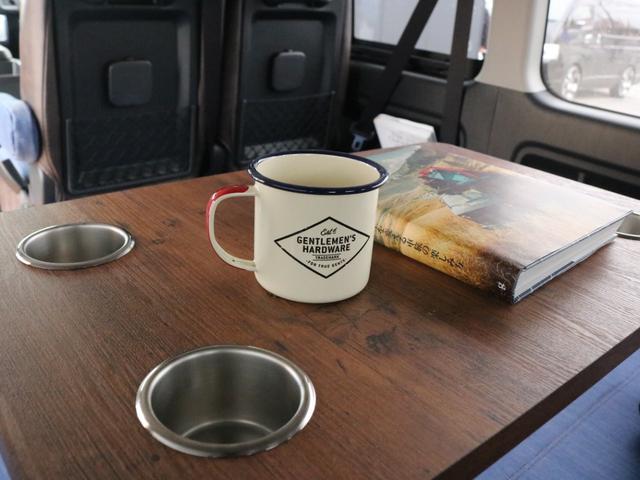 GL ロング FLEXシートアレンジVer1.5デニムカスタム フルフラットベッドキット車中泊対応 テーブルモード 3列目シート跳ね上げ収納可能 床張りフローリング施工 デニム&ウッド調 全席デニムシートカバー(65枚目)