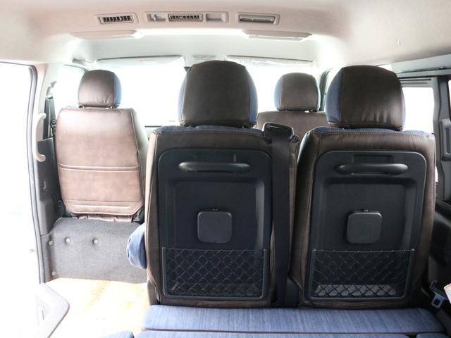 GL ロング FLEXシートアレンジVer1.5デニムカスタム フルフラットベッドキット車中泊対応 テーブルモード 3列目シート跳ね上げ収納可能 床張りフローリング施工 デニム&ウッド調 全席デニムシートカバー(67枚目)