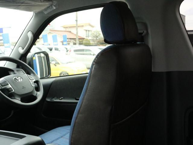 GL ロング FLEXシートアレンジVer1.5デニムカスタム フルフラットベッドキット車中泊対応 テーブルモード 3列目シート跳ね上げ収納可能 床張りフローリング施工 デニム&ウッド調 全席デニムシートカバー(73枚目)