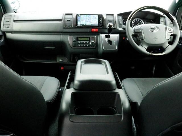 スーパーGL ダークプライムII ロングボディ オフロードバンパーガード ロックケリーAW&TOYOオープンカントリーブロックタイヤ ストラーダSDフルセグナビ ETC デジタルインナーミラー クリアランスソナー PMV 4WD寒冷地仕様 カスタム(2枚目)