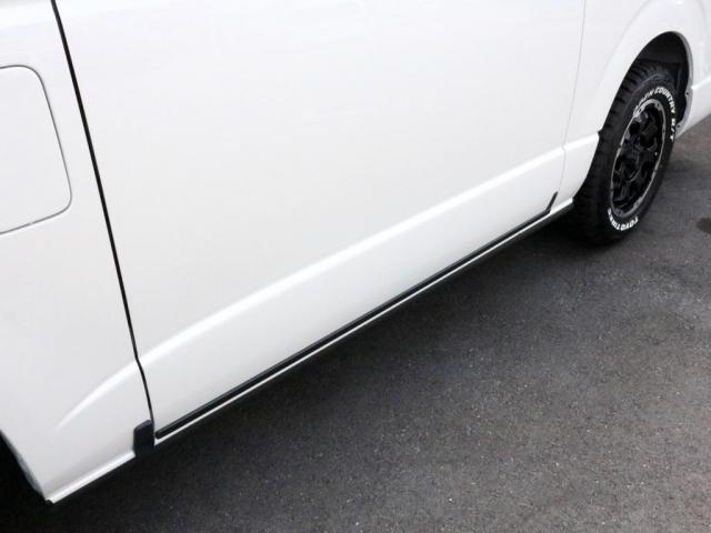 スーパーGL ダークプライムII ロングボディ オフロードバンパーガード ロックケリーAW&TOYOオープンカントリーブロックタイヤ ストラーダSDフルセグナビ ETC デジタルインナーミラー クリアランスソナー PMV 4WD寒冷地仕様 カスタム(5枚目)
