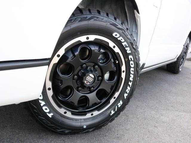 スーパーGL ダークプライムII ロングボディ オフロードバンパーガード ロックケリーAW&TOYOオープンカントリーブロックタイヤ ストラーダSDフルセグナビ ETC デジタルインナーミラー クリアランスソナー PMV 4WD寒冷地仕様 カスタム(26枚目)