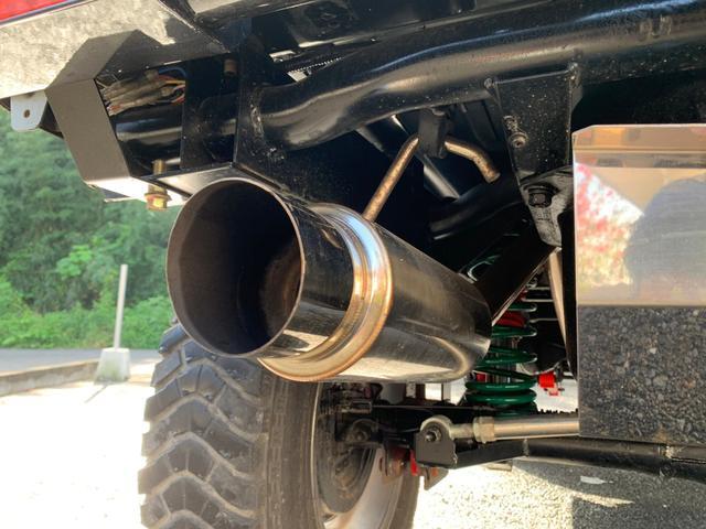 ランドベンチャー 全車室内除菌済み 3インチリフトアップ F&R5リンクアームキット F&R社外バンパー(35枚目)