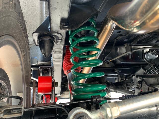 ランドベンチャー 全車室内除菌済み 3インチリフトアップ F&R5リンクアームキット F&R社外バンパー(36枚目)
