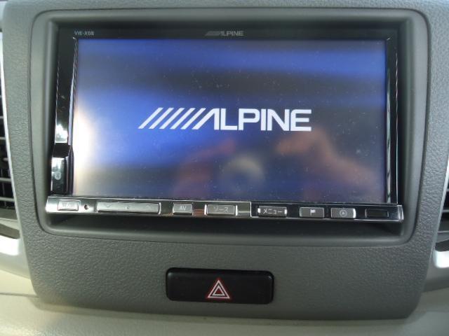 X 左パワースライド アルパインSDナビフルセグTV バックカメラ ドライブレコーダー前後カメラ ETC 社外14アルミ&BSタイヤ9分山 I-STOP 禁煙(13枚目)