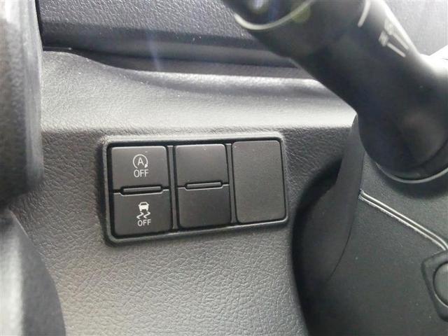 【横滑り防止装置&TRCのOFFスイッチ】 当車は発進時のタイヤ空転を抑える「TRC」やコーナリング時の横滑りを抑える「横滑り防止装置」付ですが、雪道や泥濘地でのスタックからの脱出用に押します。