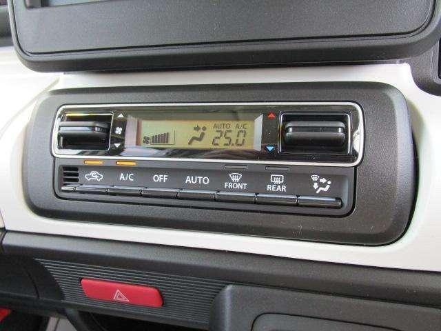 ★オートエアコン★自動車室内の希望温度を設定すると、自動的にヒーターやクーラーの温度調整や風量調整、内外気切り替えなどを行ってくれる快適装備です!