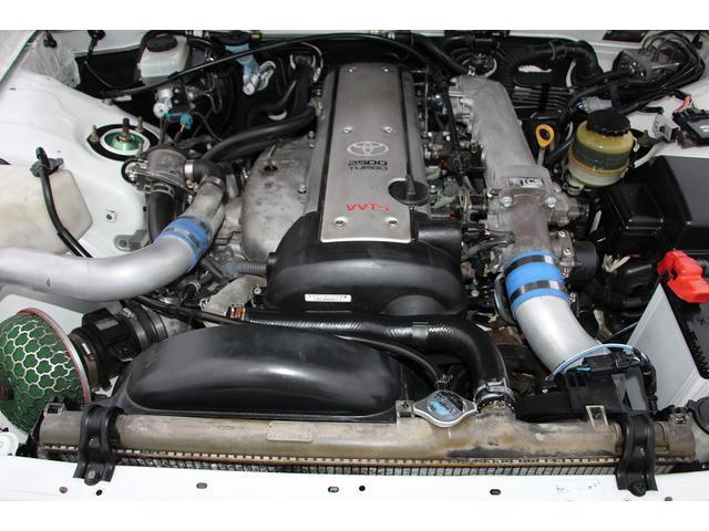 ツアラーV リミテッド BNスポーツフルエアロ FRPフロントフェンダー FRPボンネット ワークエモーションT5R19インチアルミホイル テインフルタップ車高調 柿本マフラー 前置インタークーラー5速改公認(5枚目)