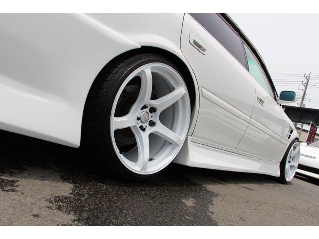 ツアラーV リミテッド BNスポーツフルエアロ FRPフロントフェンダー FRPボンネット ワークエモーションT5R19インチアルミホイル テインフルタップ車高調 柿本マフラー 前置インタークーラー5速改公認(15枚目)