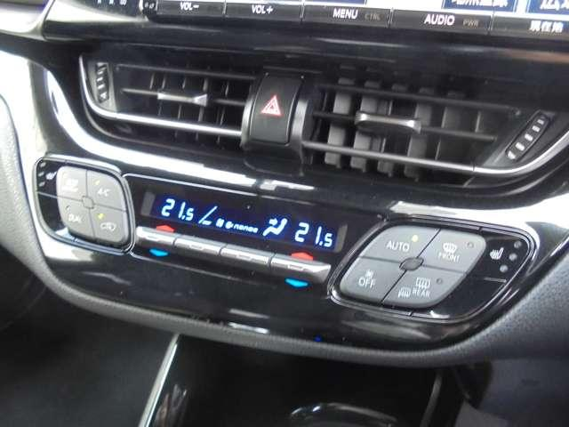 こまめな温度設定のできる、オートエアコンがついています