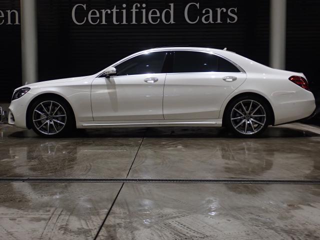 S550ロング エディション1 AMGラインプラス ヘッドアップディスプレイ Brumester ナッパレザーシート サンルーフ 赤外線反射ノイズ軽減ガラス エアバランスパッケージ 禁煙車 認定中古車(3枚目)