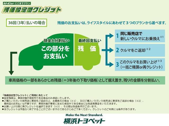 【U-Carここまでプランとは】月々のお支払がラクラクに!横浜トヨペットの残価設定型プラン「U-Carここまでプラン」 最終回を残価に据え置くから月々のお支払いがラクラク!