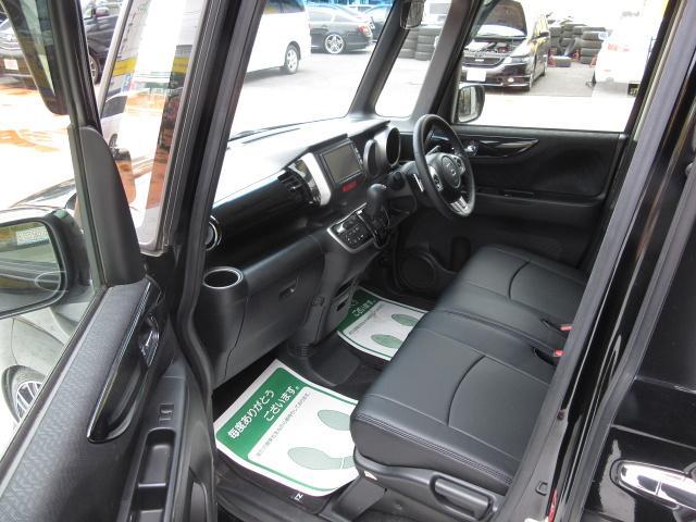 ホンダ N BOXカスタム G・ターボ新品車高調DAD17 両側自動ドア新品シートカバー