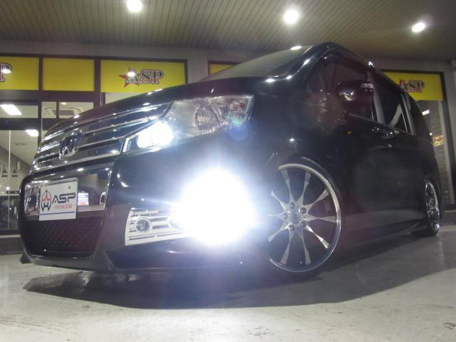 ホンダ ステップワゴンスパーダ Z 両側パワスラ 純正HDD 新品車高調 レイズ19AW