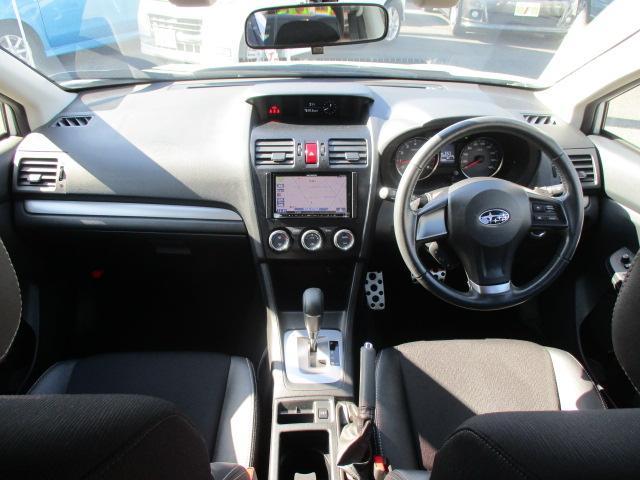 2.0i-Sアイサイト 禁煙1オーナー車 アイドリングストップ 衝突被害軽減 車線逸脱警報 全車速追従型クルーズ SDナビ1セグTV CD DVD USB Bluetooth ETC ドラレコ ハーフレザー電動シート HID(8枚目)