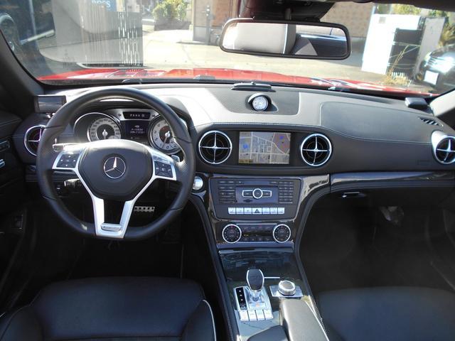 SL350 AMGスポーツPKG 左ハンドル 黒レザー レーダーセーフティー マジックスカイルーフ 純正HDDナビ&地デジTV TVキャンセラー キーレスゴー AMGエアロ&19インチアルミ(15枚目)