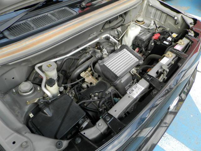 ターボG ターボ4WD5速マニュアル純正13インチアルミホイール電動格納ミラーフォグランプ衝突安全ボディーフルフラットシートWエアバックABSサイドバイザーベンチシート純正フロアマットフル装備パワーステアリング(11枚目)