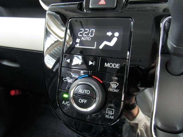 フルオートエアコンを搭載。風量&吹き出し口の調整など全自動でOK。家庭用エアコンと同じように使えます♪