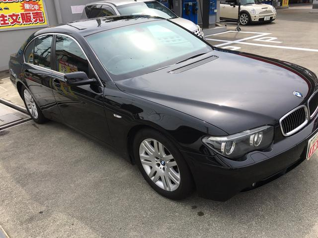 BMW BMW 745i サンルーフ 革シート 純正ナビ 後進センサー