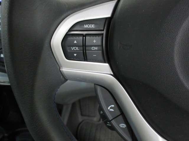 ハンドル左手にはチャンネルや音量の調整可能なオーディオリモートコントロールスイッチ搭載です!手を離さずとも調整できる優れもの!