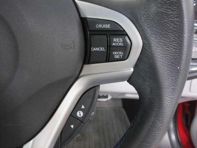 クルーズコントロール機能付きです。アクセルを踏まなくても設定した速度で自動で走ってくれます 高速走行時にとても便利です!