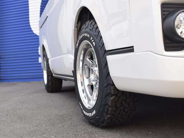 スーパーGL ダークプライムII CRSスタイルPKG ディーゼル4WD 2ピースESSEX16アルミホイールカスタム オーバーフェンダー オールテレーンタイヤ(7枚目)