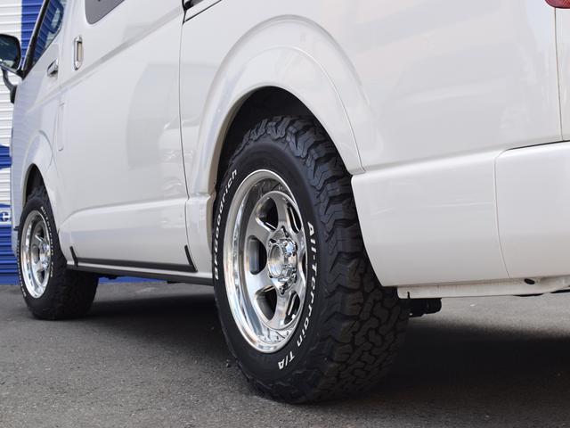 スーパーGL ダークプライムII CRSスタイルPKG ディーゼル4WD 2ピースESSEX16アルミホイールカスタム オーバーフェンダー オールテレーンタイヤ(8枚目)