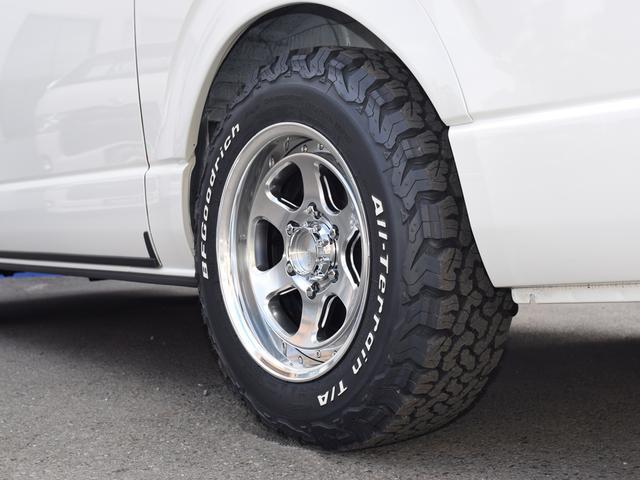 スーパーGL ダークプライムII CRSスタイルPKG ディーゼル4WD 2ピースESSEX16アルミホイールカスタム オーバーフェンダー オールテレーンタイヤ(9枚目)