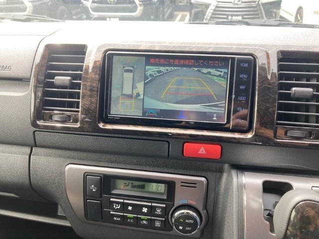 スーパーGL ダークプライム 登録済未使用車 TRDフルエアロ 純正メモリーナビ バックカメラ CD/DVD再生 Bluetooth再生 後席モニター ETC LEDヘッドランプ 衝突被害軽減ブレーキ ディーゼル(4枚目)