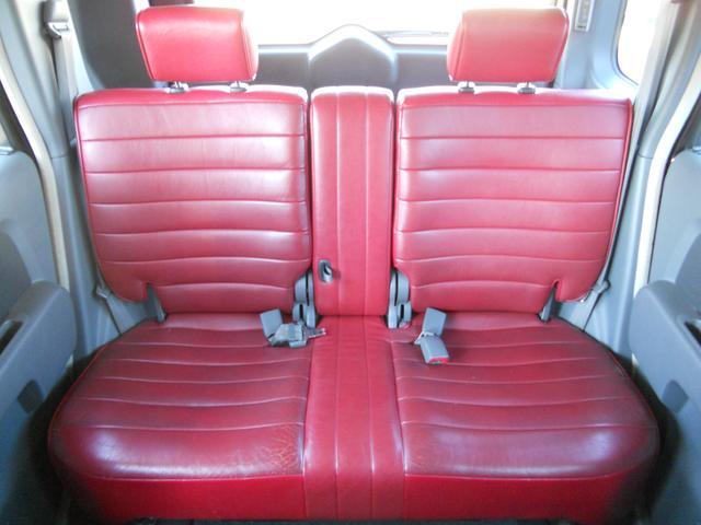 日産 キューブ プラスコンラン ワンオーナー 赤革シート 社外14AW