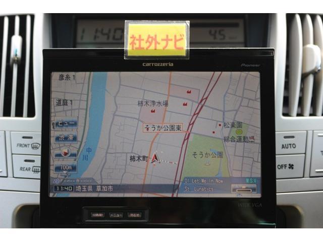 トヨタ ハリアー 240G サンルーフ社外ナビ社外スピーカーHIDETCDVD