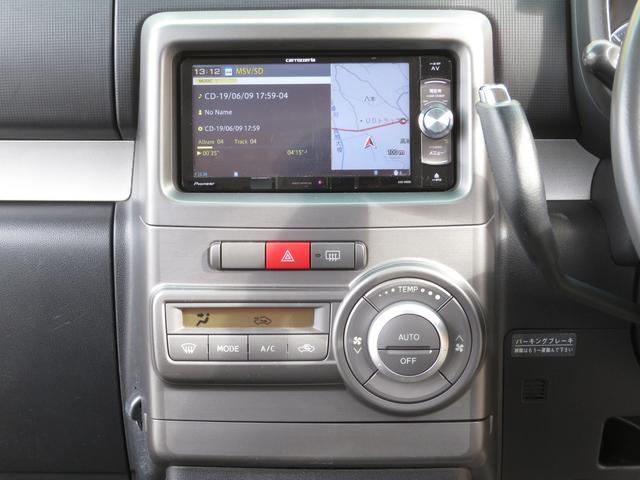 カスタム G 社外メモリーナビ フルセグ Bluetooth HIDヘッドライト スマートキー キーフリーシステム アイドリングストップ 純正14インチAW ドアバイザー ウィンカーミラー 電格ミラー(5枚目)