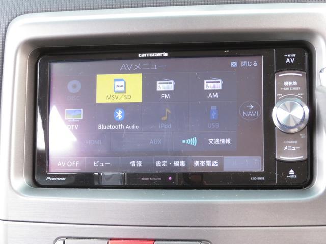 カスタム G 社外メモリーナビ フルセグ Bluetooth HIDヘッドライト スマートキー キーフリーシステム アイドリングストップ 純正14インチAW ドアバイザー ウィンカーミラー 電格ミラー(6枚目)