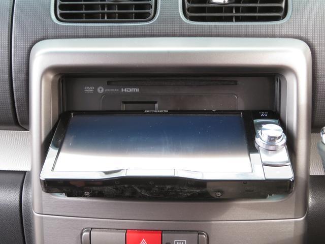 カスタム G 社外メモリーナビ フルセグ Bluetooth HIDヘッドライト スマートキー キーフリーシステム アイドリングストップ 純正14インチAW ドアバイザー ウィンカーミラー 電格ミラー(7枚目)