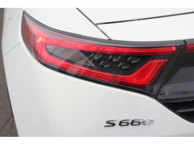 ホンダ S660 α ワンオーナーLEDヘッドハーフレザーWORK製15AW