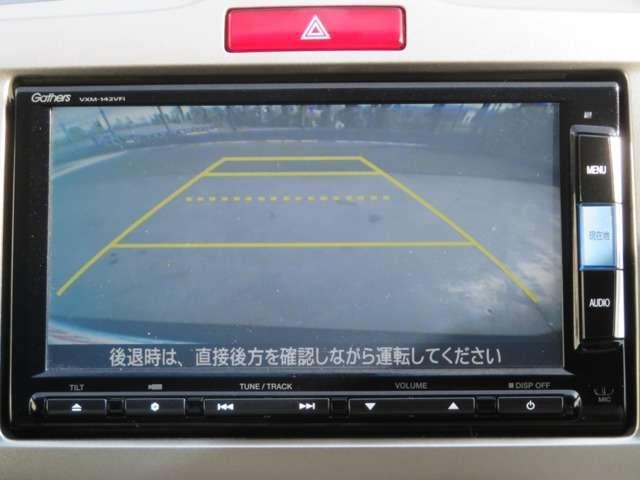リアカメラ装備です。駐車の際の心強い見方です!ガイドを見ながら確認できます♪