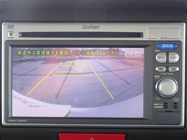 リアカメラ装備です。駐車の際にガイドを見ながら駐車ができます。