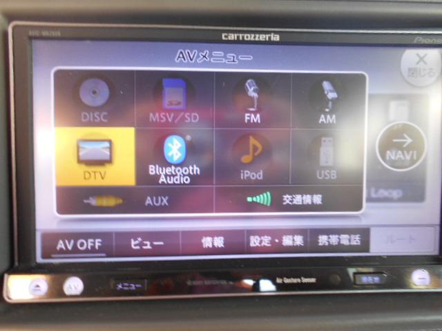 T 1オーナー カロッツェリアメモリーナビ フルセグ CD DVD Bluetooth ETC ターボ車 左パワースライドドア アイドリングストップ(10枚目)