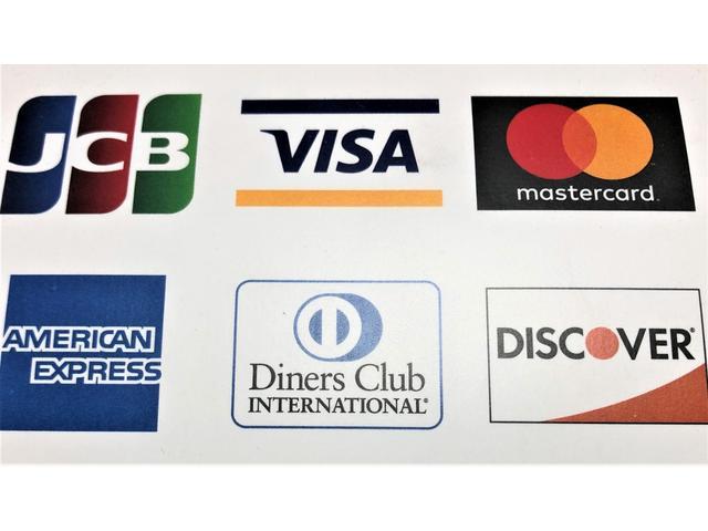 カード払いもOK!各種カード取扱していますので、ご相談ください。