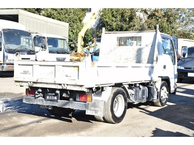 いすゞ エルフトラック 強化フルフラットローダンプ 3t 6MT ワンオーナ ETC