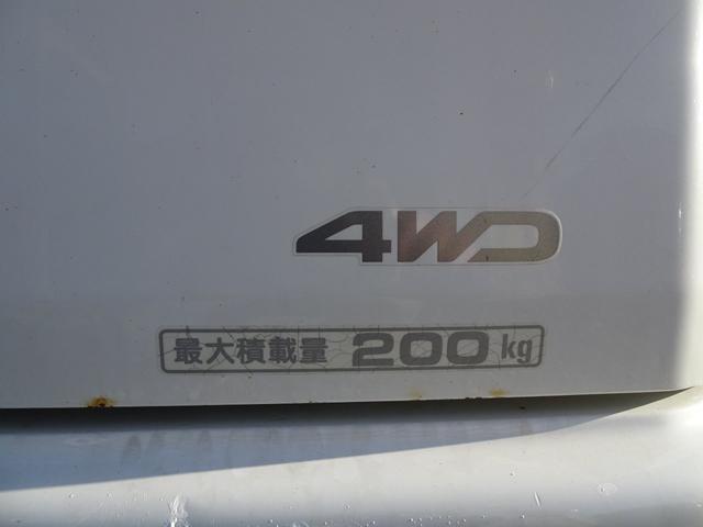 平成19年式 走行70000キロ 4WD オートマ エアコン パワステ 前列パワーウィンドウ キーレス CD 最大積載200キロ(11枚目)