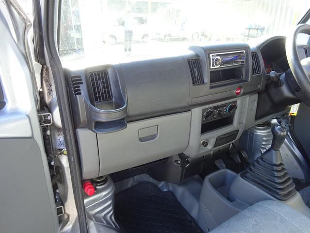 DX 5MT車 社外CDデッキ AUX付 両側スライドドア 集中ドアロック ヘッドライトレベライザー サイドドアバイザー パワーステアリング WSRSエアバック エアコン 取説(46枚目)