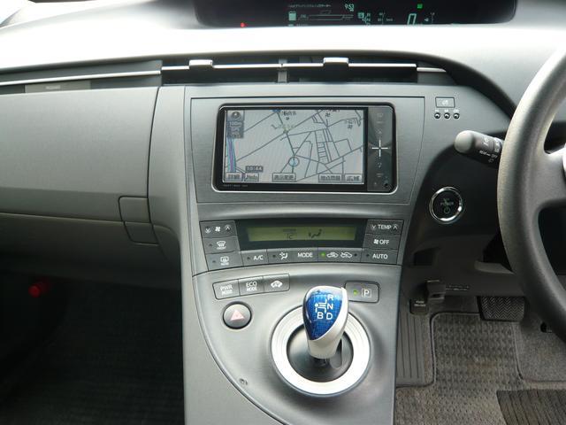 トヨタ プリウス S 純正SDナビ地デジビルトインETC15AW1年間保証