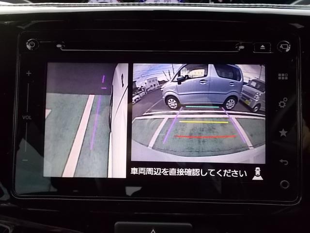 カメラ映像はボタンで切り替えができて、サイドミラーだけでは見えにくい箇所をしっかり見ることができます☆狭い道の走行や幅寄せの時に便利ですよ☆