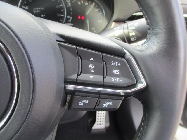 ミリ波レーダーで先行車との速度差や車間距離を認識!約30km〜100km/hの範囲で、先行車との車間を維持しながら追従走行を可能に!それにより、長距離走行などでのドライバーの負担を軽減します。