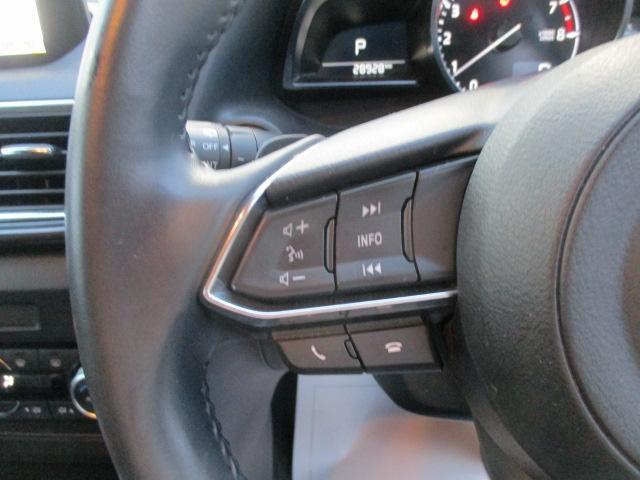 運転中にオーディオ操作が可能なステアリングスイッチ付き。